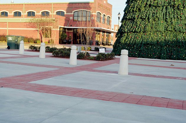 these-concrete-posts-called-bollards-were-installed-in-rogers-plaza-in-downtown-conway-the-bollards-outline-a-driveway-that-gives-access-to-businesses-in-a-building-owned-by-dennis-fulmer-said-jack-bell-chief-of-staff-to-mayor-tab-townsell