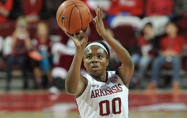 Arkansas forward Jessica Jackson tied a career-high with 22 points Sunday at Missouri. The Razorbacks won 69-66.