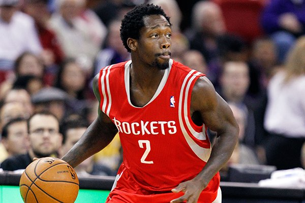 Houston Rockets point guard Patrick Beverley (2) is shown in an NBA basketball game against the Sacramento Kings in Sacramento, Calif., Sunday, Dec. 15, 2013. (AP Photo/Genevieve Ross)