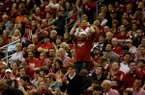 The crowd at Verizon Arena watches the Razorbacks play against South Alabama on Saturday, December 21, 2013.
