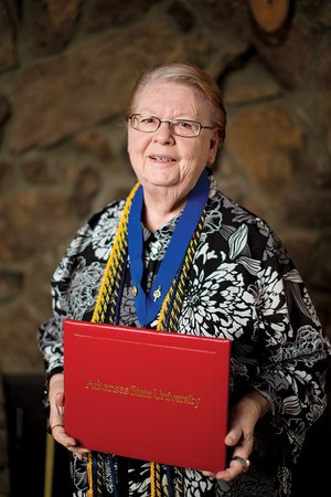 Marjorie Peterson, 83, of Heber Springs recently graduated from Arkansas State University-Beebe with a Bachelor of Science degree in business administration.