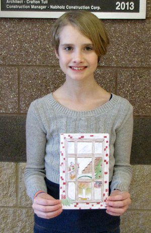 Submitted Photo Christmas Card Contest winner from Gravette Middle School is Claire Perry.