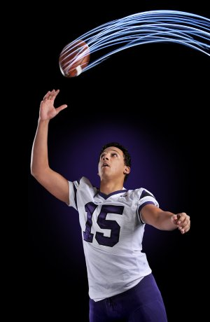 Fayetteville's C.J. O'Grady, Big 7 Football Co-Newcomer of the Year.