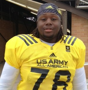 U.S. Army All American defensive tackle Bijhon Jackson is trying to lure defensive end Solomon Thomas to Fayetteville.