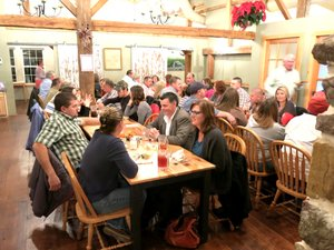 Photo by Randy Moll Gentry city employees and their families attended a city-sponsored employee appreciation dinner at the Wooden Spoon Restaurant held in Gentry on Dec. 12.