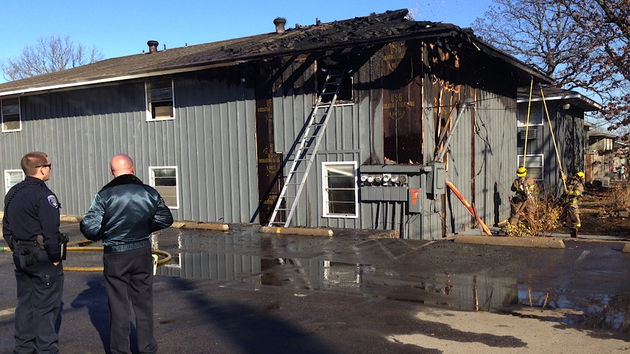 north-little-rock-police-and-fire-officials-evaluate-the-damage-caused-by-a-fire-thursday-afternoon-at-an-apartment-complex-on-fendley-drive-in-north-little-rock