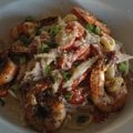 The Alfredo sauce that tops the Cajun Alfredo at 6494 Bistro in Fayetteville contains cream and hint...