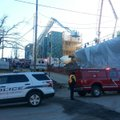 The scene of a reported construction accident at Duncan Street and Center Avenue.