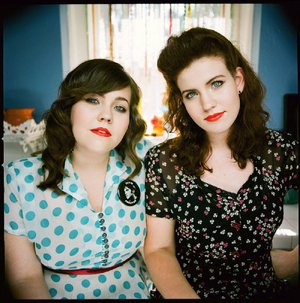 The Secret Sisters are Laura (left) and Lydia Rogers.