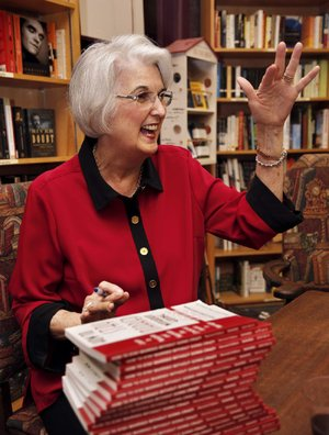 Rebecca Ward, Little Rock marriage and family therapist, prepares to sign copies of the newly updated edition of her 2000 book, How to Stay Married Without Going Crazy, during a Dec. 5 event at WordsWorth Books & Co. in Little Rock.