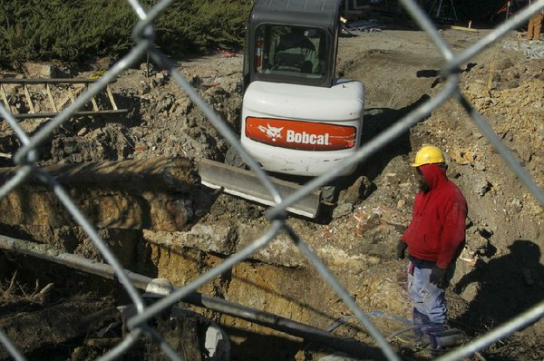 Work crew in LR digs up sword downtown