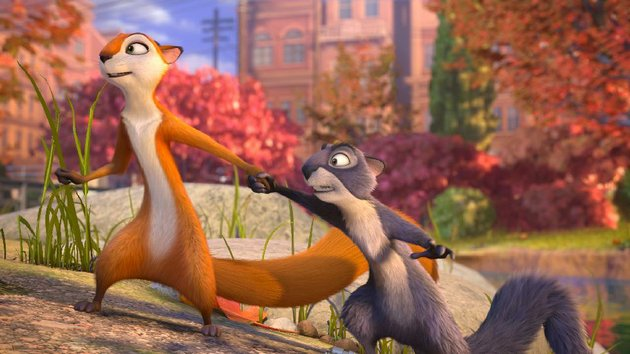 andie-voice-of-katherine-heigl-takes-surly-voice-of-will-arnett-in-hand-in-this-scene-from-the-nut-job-a-south-korean-canadian-american-animated-production
