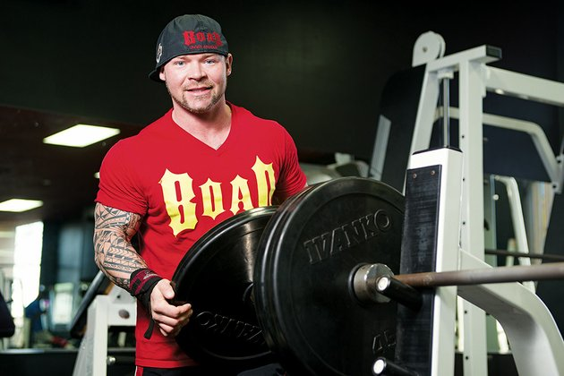 phillip-brewer-gets-ready-to-lift-weights-at-365-fitness-in-conway-where-he-trains-four-to-five-days-a-week-brewer-34-holds-several-world-records-in-the-bench-press-and-has-competed-in-20-states-and-in-russia-he-is-also-a-former-bodybuilder