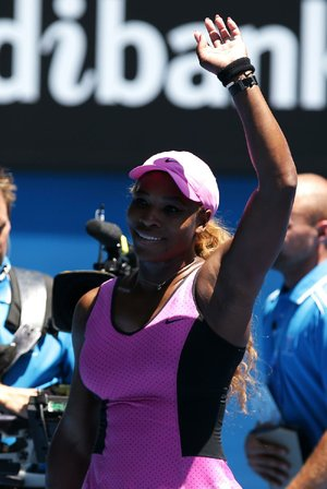 Serena Williams' victory over Daniela Hantuchova was the 61st of her career at the Australian Open, a tournament record.
