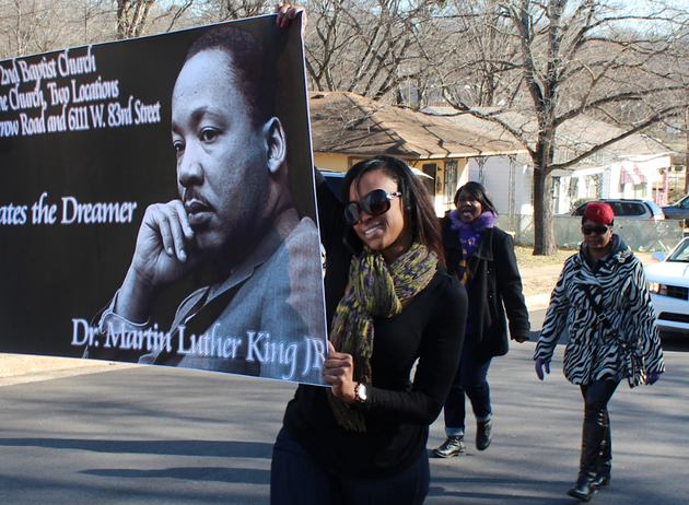 terri-porter-with-second-baptist-church-in-little-rock-walks-with-church-members-in-the-martin-luther-king-jr-day-march-parade-monday-in-little-rock