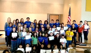 Submitted Photo Students from Decatur Northside Elementary s fourth, fifth and sixth grade classes received their certificates during an afternoon assembly on Jan. 16. The assembly marked the second quarter honor roll and citizenship awards.