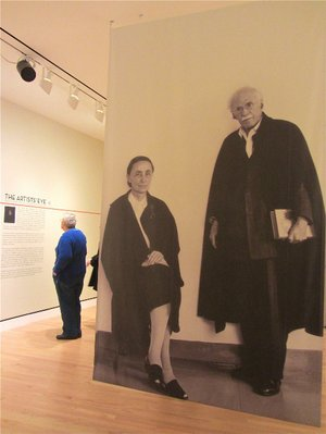 "Images of Georgia O'Keeffe and Alfred Stieglitz greet visitors to ""The Artists' Eye"" exhibition at Crystal Bridges Museum of American Art in Bentonville."