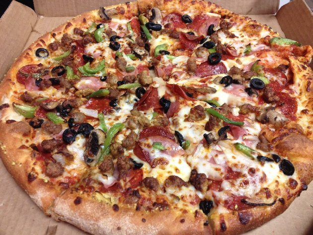 the-extravaganzza-feast-at-dominos-pizza-in-benton-features-pepperoni-ham-italian-sausage-beef-onions-green-peppers-mushrooms-black-olives-and-cheese