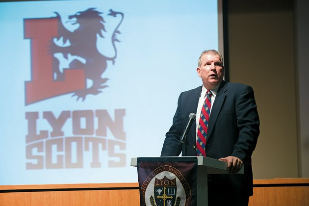 kevin-jenkins-athletic-director-at-lyon-college-in-batesville-talks-about-the-new-logo-for-the-schools-sports-teams