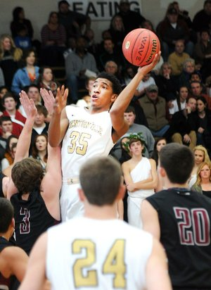 Bentonville's Malik Monk (35) hit 11 three-pointers Friday night on his way to scoring 43 points in the Tigers' 73-51 victory over Siloam Springs in Bentonville.