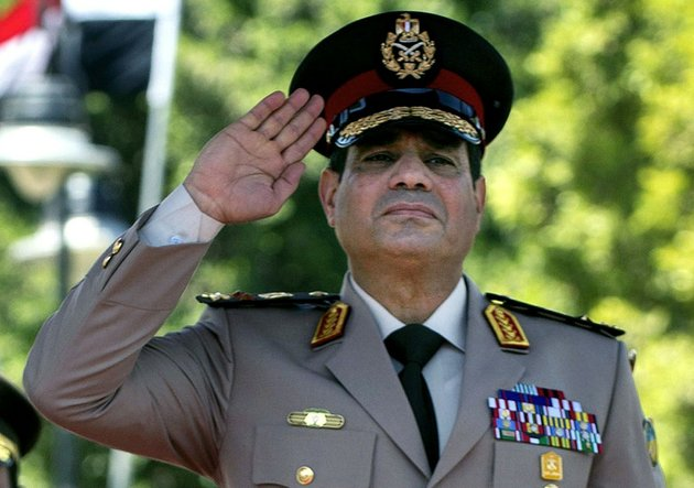 in-this-wednesday-april-24-2013-file-photo-egyptian-defense-minister-gen-abdel-fattah-el-sissi-salutes-during-an-arrival-ceremony-for-us-secretary-of-defense-chuck-hagel-at-the-ministry-of-defense-in-cairo