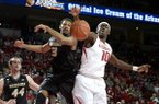 Arkansas Bobby Portis (10) reaches for the ball against Missouri Johnathan Williams III (3) in the first half Tuesday, Jan. 28, 2014 at Bud Walton Arena in Fayetteville.