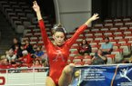 Arkansas gymnast Sydnie Dillard during a gymnastics meet on Friday, Jan. 10, 2014 at Barnhill Arena in Fayetteville.