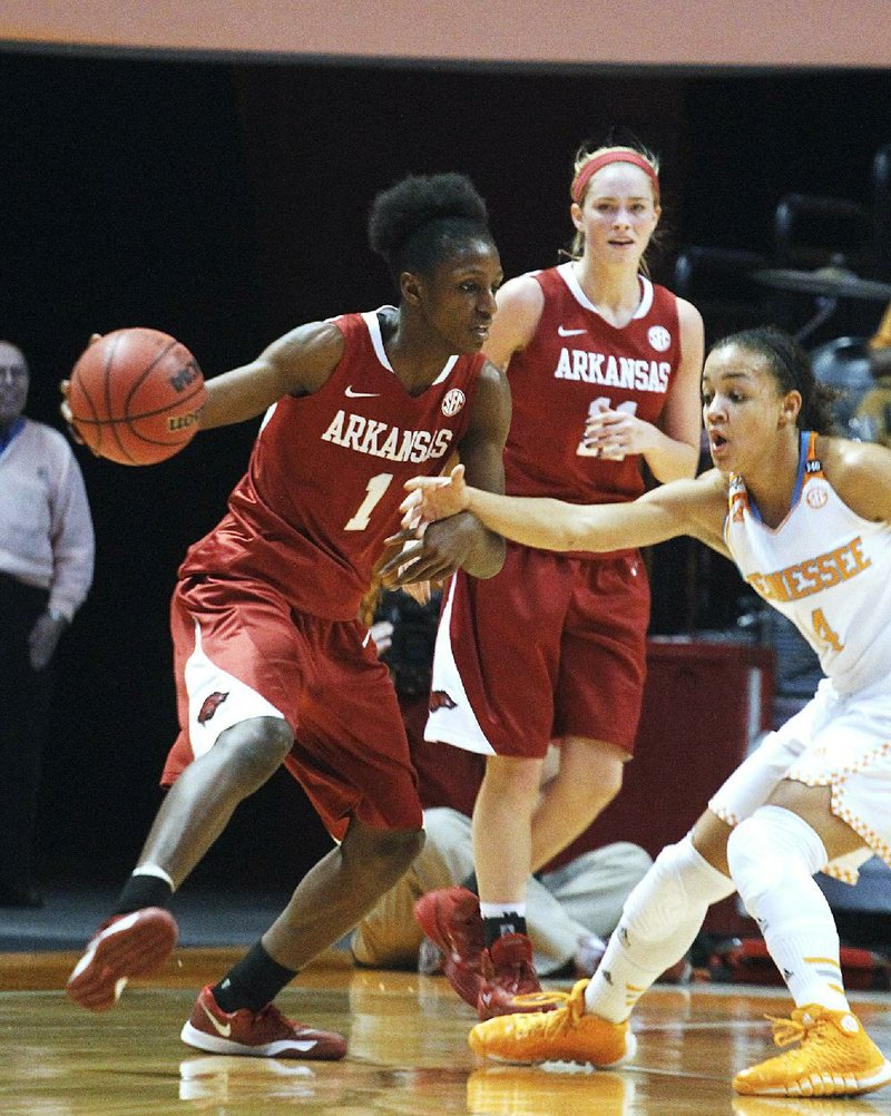 UA women stall, fall at Tennessee