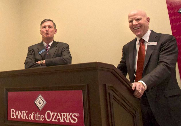 george-gleason-right-ceo-of-bank-of-the-ozarks-and-ross-whipple-ceo-of-summit-bancorp-held-a-news-conference-thursday-at-the-capital-hotel-in-little-rock-to-announce-bank-of-the-ozarks-purchase-of-arkadelphia-based-summit-bancorp