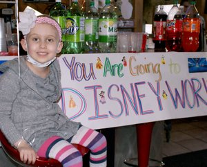Lexie s eyes sparkled and she was all smiles at the surprise Make A Wish party held for her on Jan. 23.