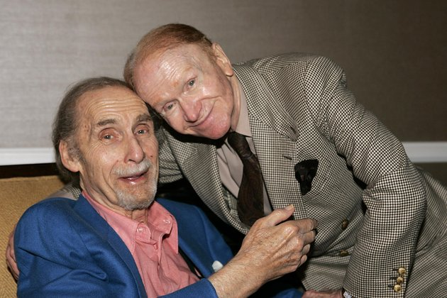 file-this-july-12-2005-file-photo-shows-comedians-sid-caesar-left-and-red-buttons-at-the-television-critics-association-pbs-press-tour-in-beverly-hills-calif-caesar-whose-sketches-lit-up-1950s-television-with-zany-humor-died-wednesday-he-was-91