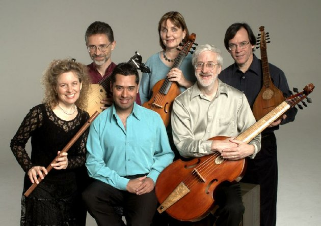 the-baltimore-consort-front-row-mindy-rosenfeld-jose-lemos-larry-lipkis-back-row-ronn-mcfarlane-mary-anne-ballard-and-mark-cudek-performs-a-program-of-love-songs-friday-at-harding-university-in-searcy