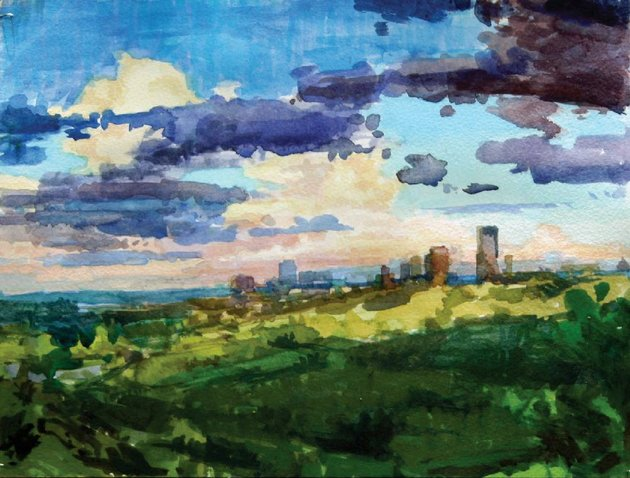 jon-rogers-downtown-little-rock-from-knoop-park-is-part-of-the-mid-southern-watercolorists-annual-juried-exhibit-which-opens-friday-at-historic-arkansas-museum