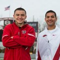 Orsy Gonzalez, left, Springdale senior, with his older brother, former Springdale runner Gabe Gonzal...