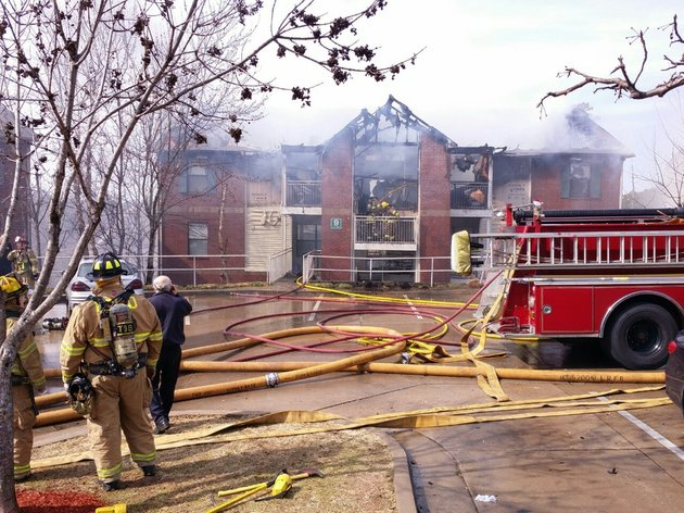 fire-crews-battle-a-blaze-at-chapel-ridge-apartments-24800-chenal-parkway-in-little-rock-on-monday-feb-17-2014