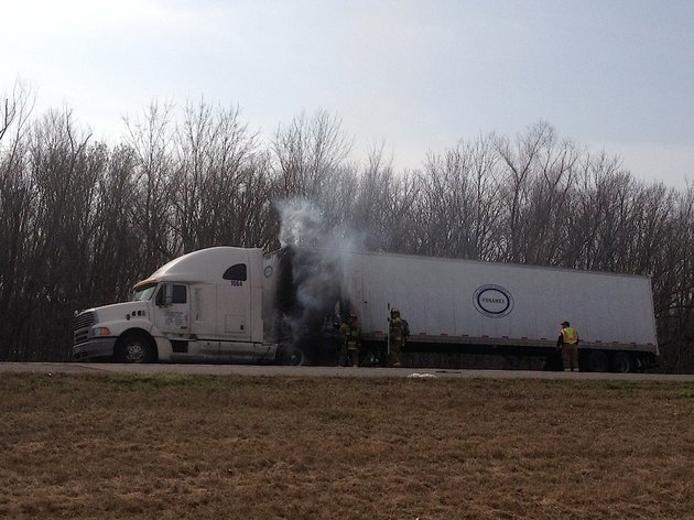 little-rock-firefighters-put-out-a-tractor-trailer-fire-monday-morning-feb-17-2014-on-interstate-30