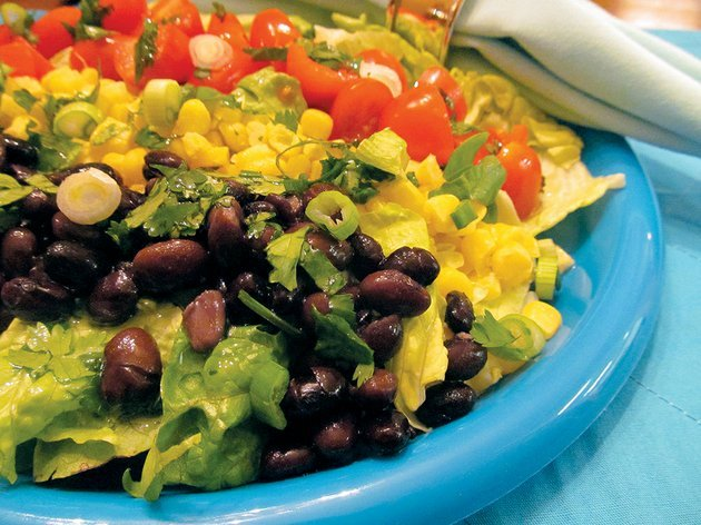 flavor-isnt-sacrificed-in-this-heart-healthy-southwestern-cobb-salad-fresh-cilantro-and-lime-dressing-provide-just-the-right-balance-for-the-sweet-corn-creamy-beans-and-juicy-tomato-experiment-with-oils-that-are-low-in-saturated-fat-olive-canola-sunflower-and-peanut-are-a-few-to-find-which-one-you-like-best