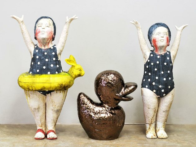 kensuke-yamadas-stoneware-work-bathing-beauties-is-part-of-the-exhibit-primary-clay-in-gallery-iii-in-the-university-of-arkansas-at-little-rocks-fine-arts-building