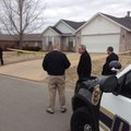 Authorities at the scene of a reported home invasion Monday at 4378 Chaparral Lane in Fayetteville.