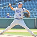 Brett D'Amico of Rogers High delivers a pitch May 17, 2013, during the Class 7A state baseball champ...