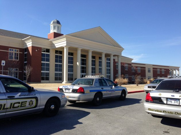 police-car-at-springdale-har-ber-high-school