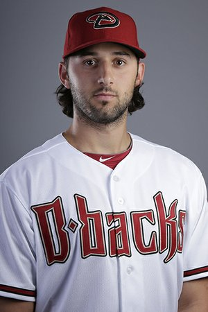 This is a 2014 photo of Mike Bolsinger of the Arizona Diamondbacks baseball team. (AP Photo/ Gregory Bull)