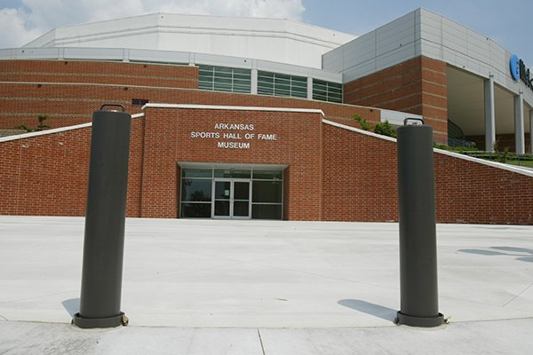 The entrance to the Arkansas Sports Hall of Fame at Verizon Arena in North Little Rock.