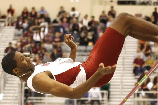 Arkansas' Anthony May won the SEC high jump championship on Friday.
