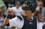 Detroit Tigers catcher James McCann plays during an exhibition spring training baseball game against the Atlanta Braves in Lakeland, Fla., Thursday, Feb. 27, 2014. (AP Photo/Gene J. Puskar)