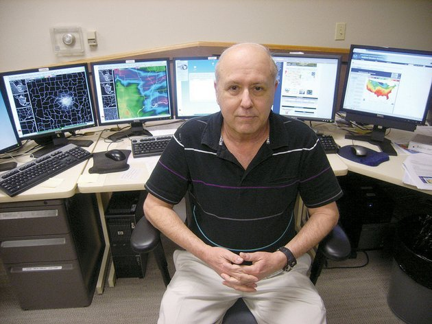 john-robinson-is-the-warning-coordination-meteorologist-for-the-national-weather-services-office-in-north-little-rock-robinson-has-been-with-the-nws-for-nearly-40-years-with-all-but-11-months-of-that-time-spent-in-arkansas