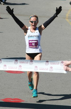 Leah Thorvilson, the women's record holder in the Little Rock Marathon at 2:37:26, will go for a fifth victory Sunday in the race that winds through Little Rock and North Little Rock.