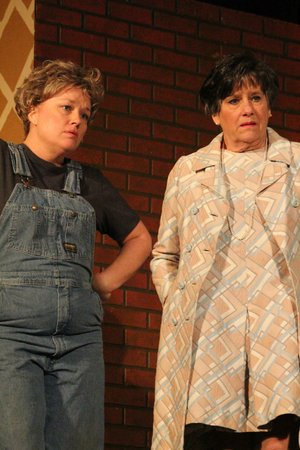 Susan Troillett (left) and Maryann Waldemeyer form onethird of the Royal Players' cast of Steel Magnolias.