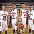 STAFF PHOTO ANTHONY REYES TreShawn Gause, from left, D.J. Evans, Chris Owen and Tereke Eckwood of S...