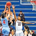 Special To NWA Media Mike Kemp Desiree Mack of Springdale High tries to block a shot Friday by Fort...